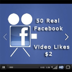 Buy 50 Real Facebook Video Likes for $2